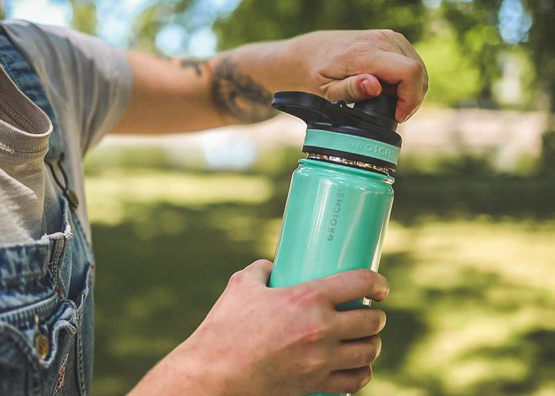 Stay hydrated this summer with this unique water bottle; it will keep your drinks hot for up to 12 hours and cold for up to 24 hours.