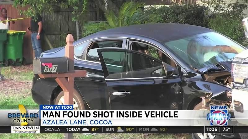 Man found shot inside vehicle