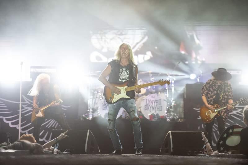 Mark Matejka of Lynyrd Skynyrd performs during the Pepsi Gulf Coast Jam on June 04, 2021 in Panama City Beach, Florida.