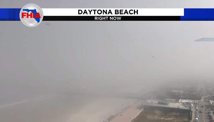 Sea fog over Daytona Beach