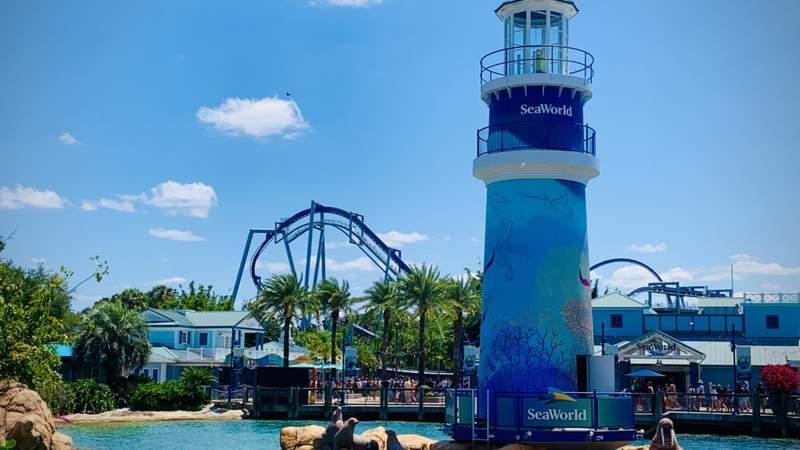 Lighthouse at SeaWorld Orlando on May 9, 2021