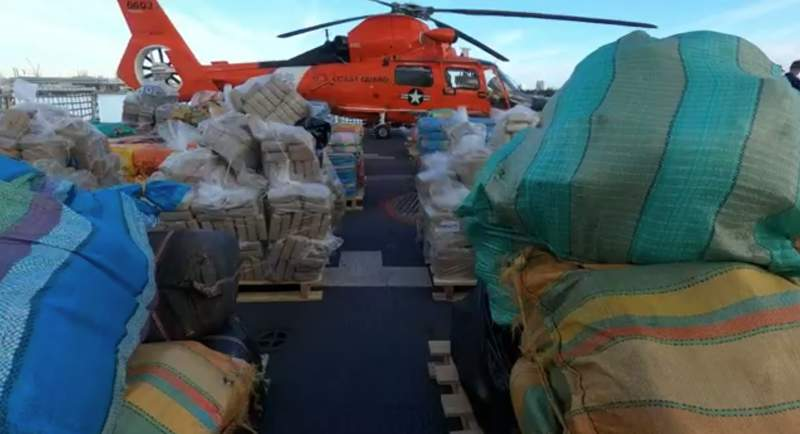 US Coast Guard seizes $411 million worth of drugs