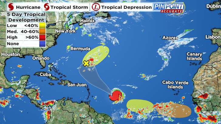 CONES, MODELS, SATELLITE: Sam remains monster hurricane in southern Atlantic