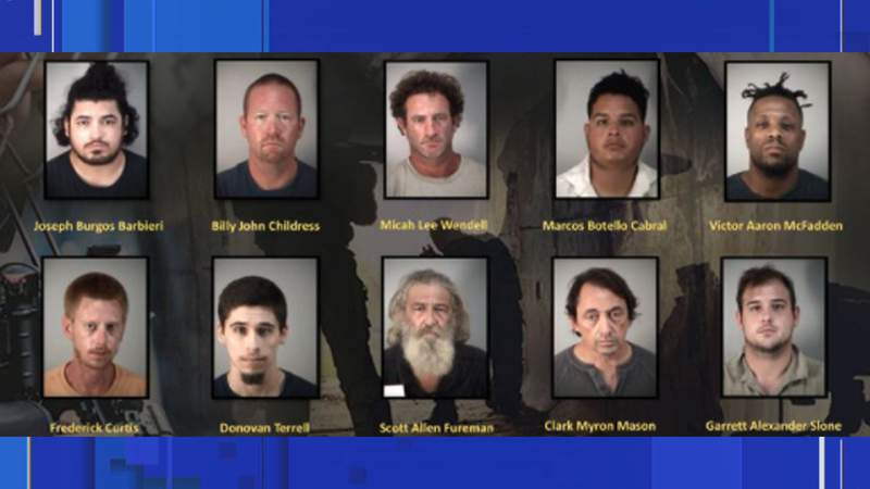The sheriff's office said the arrests were made in a four-day undercover operation called Operation Flip Flop.