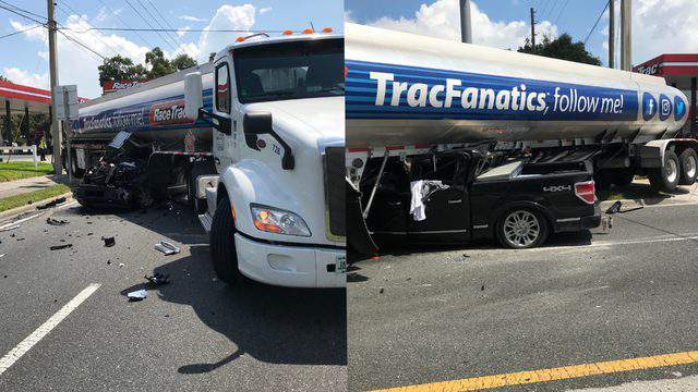 Gator Truck Of Ocala >> Pickup Truck Collides With Tanker In Ocala