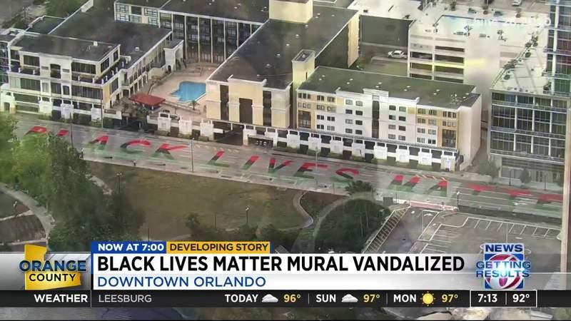 Black Lives Matter mural vandalized