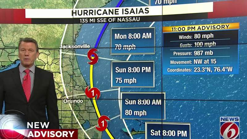 Latest Track of Hurricane Isaias released